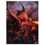 Ognisty Smok-Fire Dragon-Age of Dragons Anne Stokes-duży obraz na płótnie canvas
