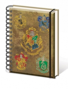 Harry Potter Notes A5 Hogwart's Crests